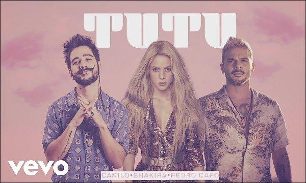Shakira a enregistré un remix de TUTU avec Camilo et Pedro Capó