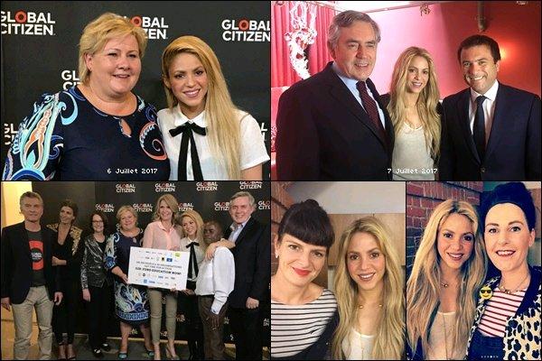 7 juillet 2017 : Shakira a donné une interview à la BBC pour parler de l'éducation des enfants à Hambourg + Le 06/07 Shakira a pris quelques photos avec des chefs d'Etats, dont la première ministre norvégienne.Elle est vraiment superbe !