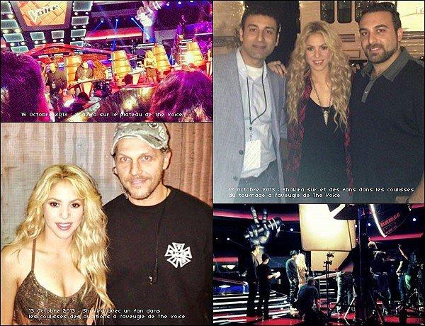 10/2013: La belle colombienne a commencé les premiers jours de tournage de la saison 6 de The Voice USA Shakira Mebarak était très belle, j'aime beaucoup sa robe, ainsi que sa chemise à carreaux. Les fans ont eu beaucoup de chance *_*