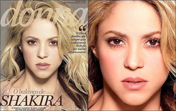 Décembre 2016 - Shakira Mebarak est en couverture du magazine brésilien Donna Shakira est ravissante sur ces photos, j'aime beaucoup son maquillage discret et naturel, de plus sa tenue est vraiment TOP !