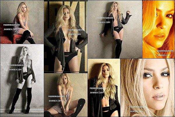 Photoshoot datant de 2009 réalisé par le photograph et ami de Shakira, Jaume de Laiguana Shakira est sublime et très sexy sur ces photos, j'adore ses cheveux légèrement ondulés et ses cuissardes, elle en met plein les yeux :)