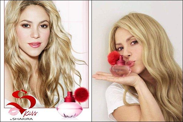 """De nouvelles photos des parfums de S. sont sortis """"I am Rock by Shakira"""" et """"Kiss by Shakira"""" Elle est ravissante sur ces clichés, j'adore ses beaux cheveux blonds, elle met vraiment bien en valeur les flacons des parfums ♥"""