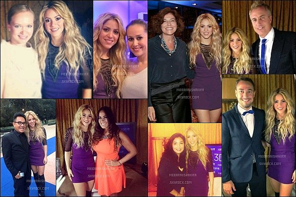 """8 novembre 2013 : Shakira a posté une nouvelle photo sur Twitter, etla voici sur le tapis rouge de l'event Légende, """"Nous espérons que vous ayez apprécié l'interview d'aujourd'hui avec @3DWhite, je vous laisse avec une photo de Shakira"""""""