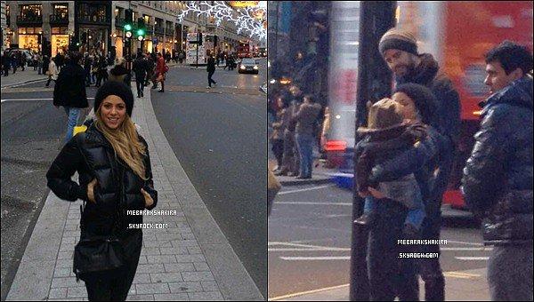18 novembre 2013 : Shakira a posté une nouvelle photo d'elle sur Twitter d'elle à Picadilly à Londres + Photo de droite -Le 17/11/13 : Shakira, Gérard & Milan se promenant dans les rues de Londres. Ils sont mignons tous les trois :)