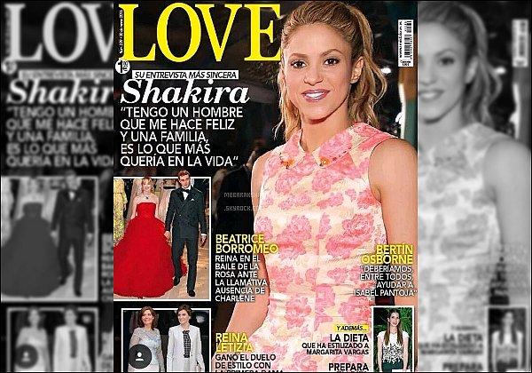 Shakira est en couverture de ce mois-ci du magazine LOVE. Elle est adorable ♥
