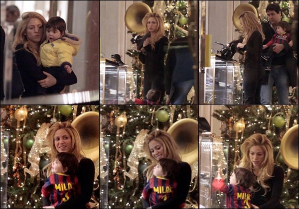 12 décembre 2013 :Gerardest venu cherché sa bien aimée accompagné de Milan à l'aéroport de Barcelone Ils sont choux tous les trois ! :) Je trouve ça adorable qu'ils aillent chercher Shakira pour son retour des Etats-Unis, belles retrouvailles :)