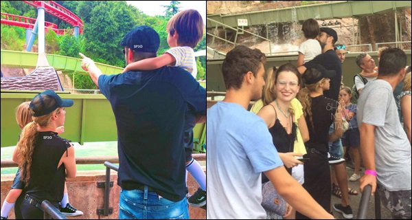 1er août 2017 : Shakira, Gerard et les garçons sont allés dans un parc d'attraction à Barcelone C'est mignon de voir la petite famille réunie. Dommage qu'on ai pas plus de photos et de face surtout. La tenue de Shak semble sympa :)