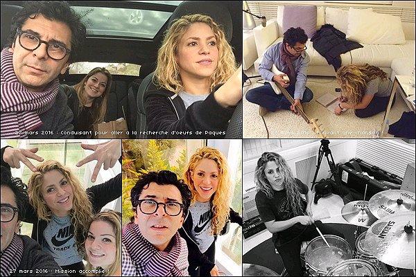 27 mars 2016 : Mlle Mebarak a posté de nouvelles photos sur Twitter et quelle bonne nouvelle...!! Shakira a commencé à travailler sur son nouvel album *__* pas plus d'info pour le moment, en tout cas je suis impatiente :D