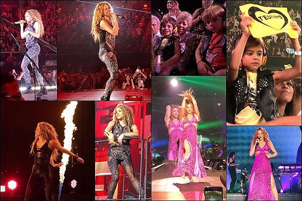 24 août 2018 : La sublime Shakira a donné un concert à San Antonio au Texas La belle était une nouvelle fois au TOP ! J'adore ces photos, Shakira est toute simplement divine !!