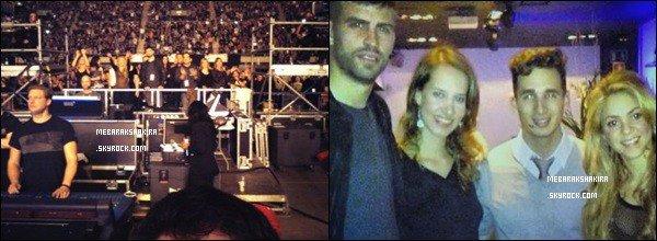 """13 Janvier 2014 : Shakira a posté une nouvelle photo d'elle et son ingénieur du son surTwitter A quelques heures de la sortie, S. revoit tout...""""Je revois #CantRememberToForgetYou une dernière fois avec mon ingénieur"""""""