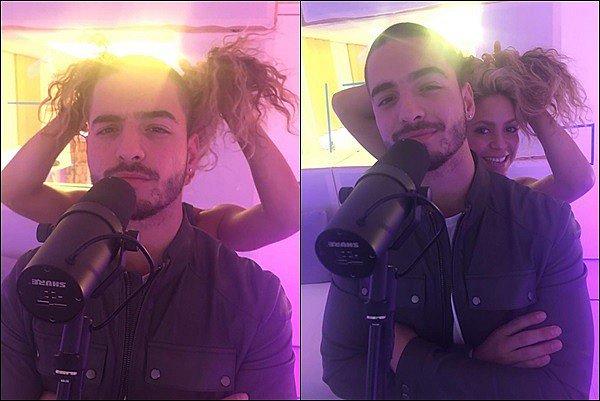 10 Septembre 2016 : Shakira était en studio avec le chanteur colombien Maluma à Barcelone Le beau colombien a posté deux photos accompagné de notre jolie Shak sur Instagram, hâte de voir ce qu'ils nous préparent !
