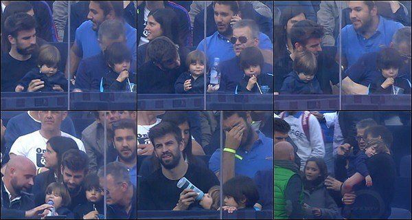 6 mai 2016 : Gerard, son père et des amis à lui, ainsi queMilan et Sasha assistaient à un match à Barcelone Gerard est mignon avec ses Sasha & Milan, ils ont bien grandi ! J'adore la photo où Sasha dort dans ses bras, il est juste adorable *_*