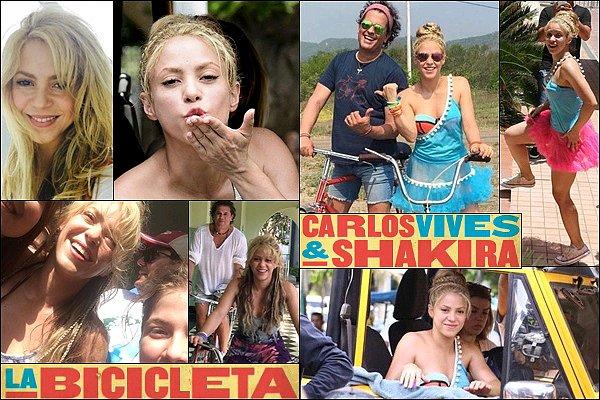"""Le nouveau single de Shakira et Carlos Vives """"La Bicicleta"""" sort le 27 mai prochain Hâte d'entendre ce nouveau morceau des deux colombiens !? C &S ont tourné le clip vidéo en Colombie il y a quelques jours à peine."""
