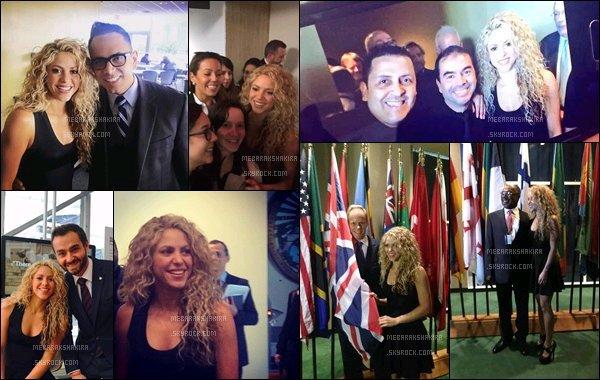 22 Septembre 2015 : Shakira continue d'oeuvrer pour le développement mental des jeunes enfants. La sublime colombienne s'est rendu au siège des Nations Unies pour y donner une conférence sur cette cause qui lui tient à coeur.