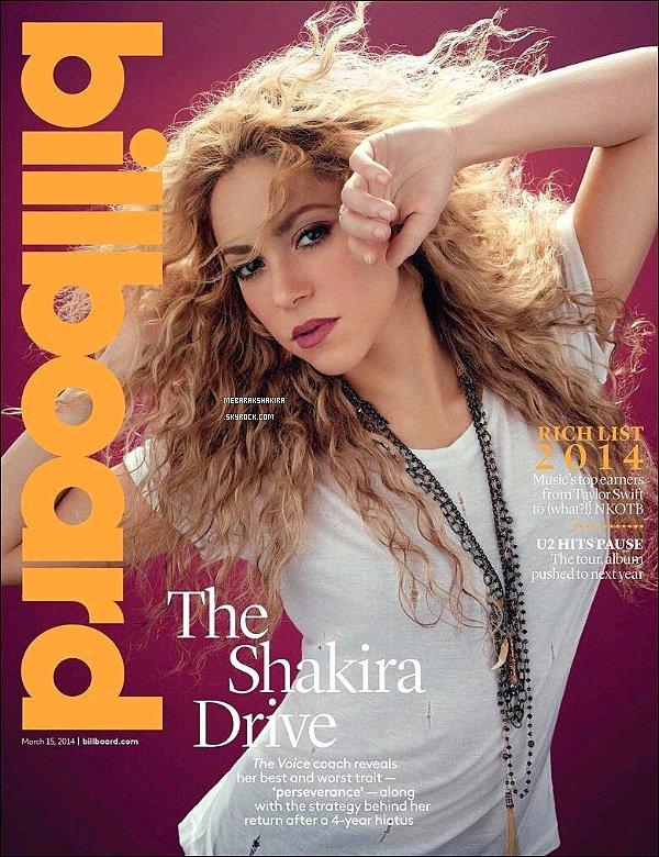 Shakira fait la couverture du mois de mars du magazine Billboard