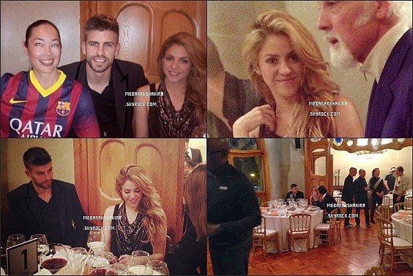 6 mars 2014 : Shakira & Gérard au restaurant avec des amis. S. était vraiment ravissante.
