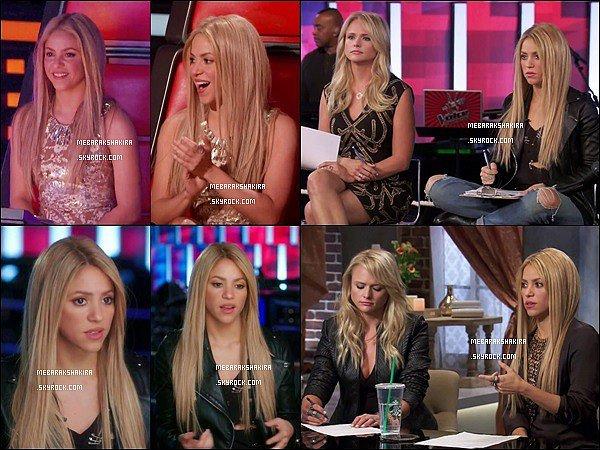 Nouvelles photos de ShakiraetMiranda Lambert pour The Voice