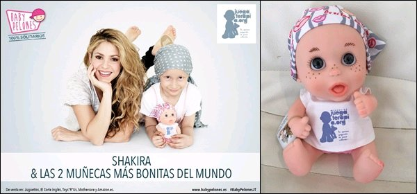 Shakira va aider les enfants atteints du cancer, voici la poupée conçue par la jolie colombienne La belle colombienne est toujours dévouée pour les bonnes causes, en voici la preuve une fois encore, quel amour cette Shakira ♥