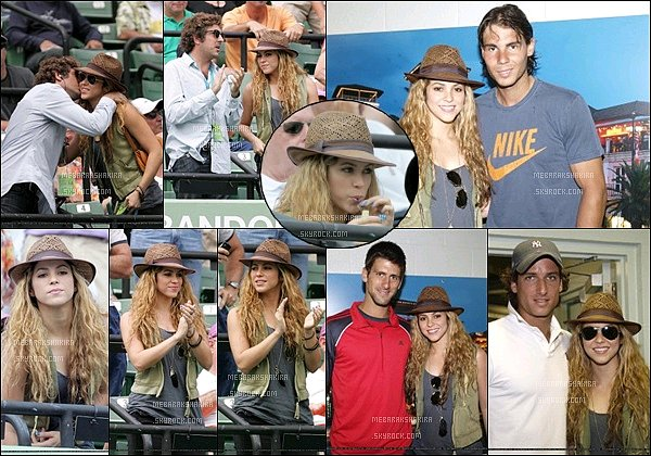 30 mars 2009 : Shakira assistait au Sony Ericsson Open tennis tournament à Key Biscayne en Floride S. était vraiment magnifique avec son chapeau de paille. Elle a également pris quelques photos avec des tennisman dont Rafael Nadal.