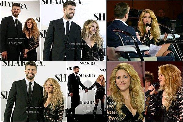 20 mars 2014 : Shakira & Gérard au lancement du nouvel album SHAKIRA à l' hôtel W à Barcelone Shakira était renversante ! J'adore sa robe noir en crochets, ses cheveux blonds ondulés sont superbes. Quelle belle apparition :)