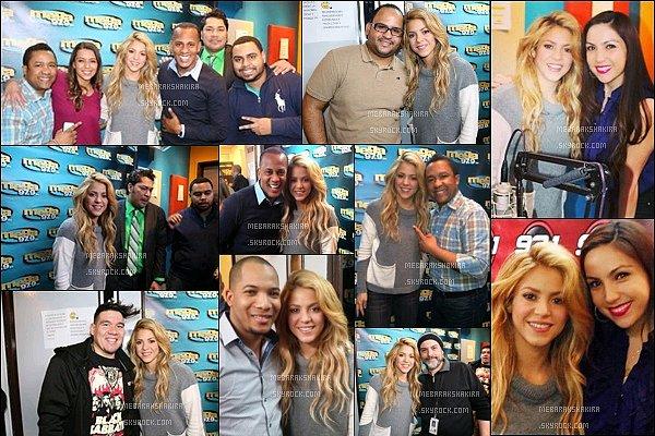 26 mars 2014 : Shakira est allée au studio de la radio La Mega 97.9 àNew Yorkoù elle a été interviewé. + La même journée, Shakira a également donné une interview à la radio Amor 93.1 à New York City. Elle était toute jolie :)