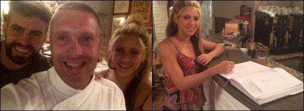 """6 Juillet 2016 : Shakira et Gerard sont allés manger dans le restaurant """"La Luna de Tirni"""" en Italie S. était encore une fois très jolien j'aime beaucoup son débardeur, elle était adorable et très souriante comme à son habitude :)"""