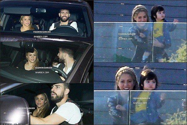 10 avril 2014 : Shakira, Gérard & Milan étaient invités à l'anniversaire de Lia Fabregas à Barcelone