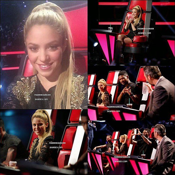 28 avril 2014 : Shakira sur le tapis rouge de The Voice