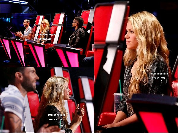 "29 avril 2014 : Shakira au 20eme épisode de The Voice performant ""The One Thing"" avec Tess & Kristen"