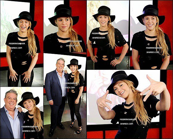 30 avril 2014 : Shakira donnant une interview pour le programme Elvis Duran Z100 Morning Show à LA