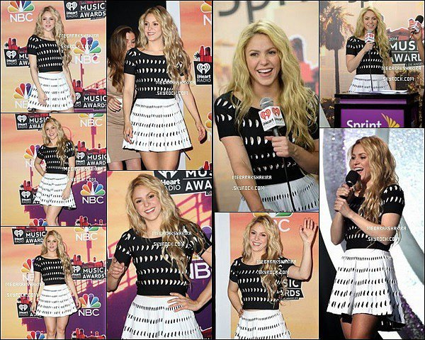 1er mai 2014 : Shakira sur la tapis rouge des iHeart Radio Music Awards à Los Angeles