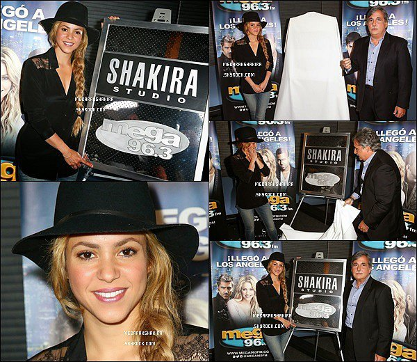 16 mai 2014 : Shakira a donné une interview à la Radio Mega 96.3 à Los Angeles