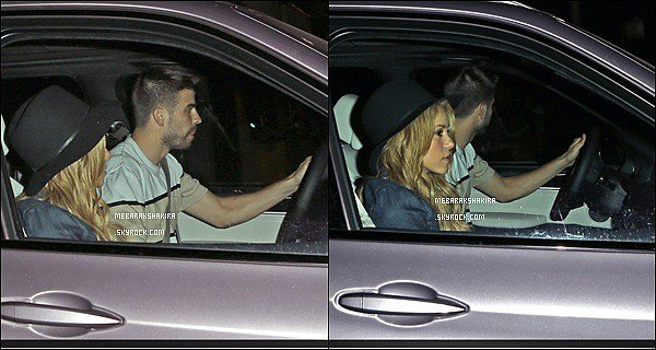 20 mai 2014 : Shakira & Gérard dans une voiture à Los Angeles