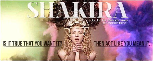 Découvrez le clip de La La La (Brazil 2014) feat Carlinhos Brown pour la coupe du monde ! Le clip est génial ! Shakira est fabuleuse, la famille Piqué y est au complet, Milan est adorable ♥