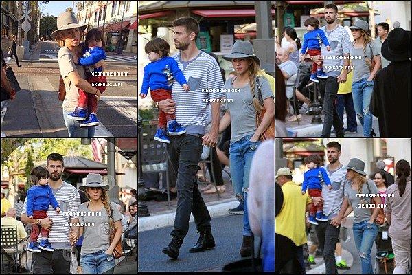 23 mai 2014 : Shakira, Gérard & Milan se promenant dans les rues de Los Angeles