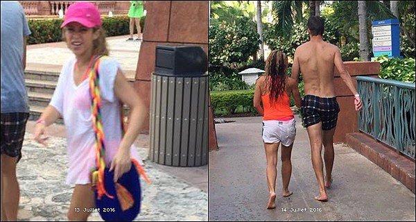 13 Juillet 2016 : Shakira a été aperçu près de la plage lors de ses vacances auxBahamas + Le 14 Juillet 2016, Shakira et son compagnon Gerard Piqué revenant de la plage lors de leur séjour aux Bahamas