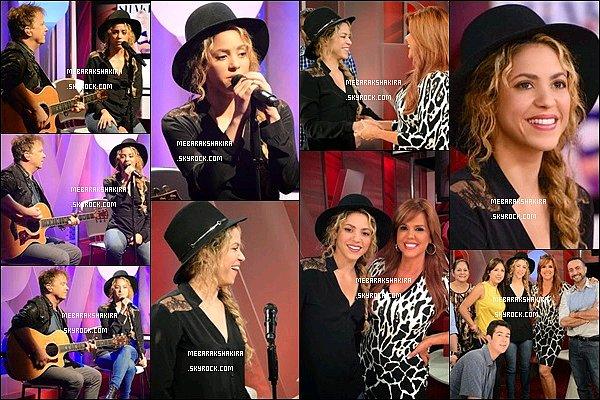 12 juin 2014 : Shakira était présente à l'émission Al Rojo Vivo de la chaîne latino américaine Telemundo