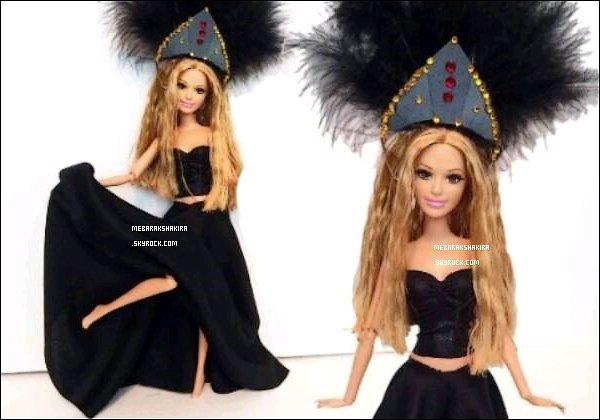 17 juin 2014 : Shakira Mebarak a désormais sa poupée à son effigie du clip La la la (Brazil 2014)