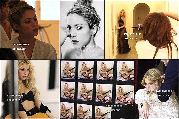 20 juin 2014 : Shakira a dévoilé une vidéo derrière la caméra sur FB du photoshoot pour l'album SHAKIRA.