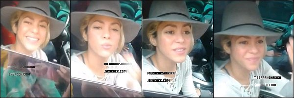 11 juillet 2014 : Shakira a posté une photo de Carlinhos  & elle lors de répétitions pour la cérémonie de la CDM