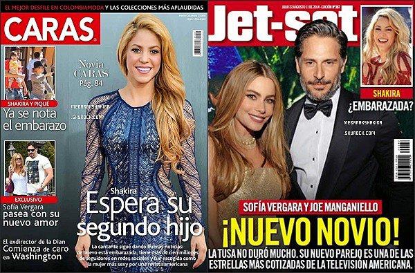 Shakira fait la couverture de magazines télé durant le mois de juillet 2014