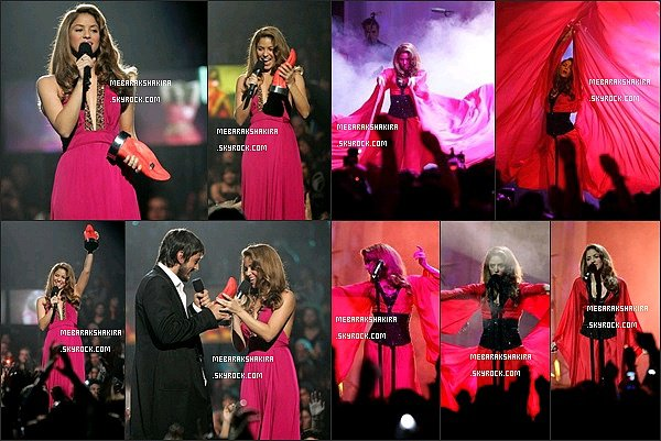 19 octobre 2006 : Shakira était auLos Premios MTV Latino America au Palais des Sports à Mexico