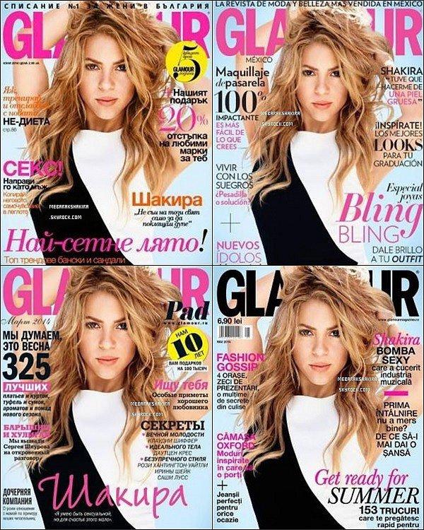 En ce mois d'août 2014, la ravissante colombienne fait la couverture du magazine Glamour dans 4 pays différents : Mexique, Russie, Roumanie & Bulgarie