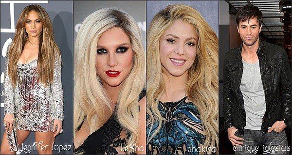 Jlo, Ke$ha, Shakira, Enrique Iglesias... ils ont quelques chose en commun, mais quoi ?