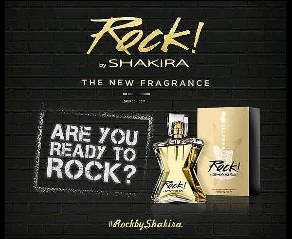 d'autres photos promo du nouveau parfum, Rock ! by Shakira ont fait leur apparition