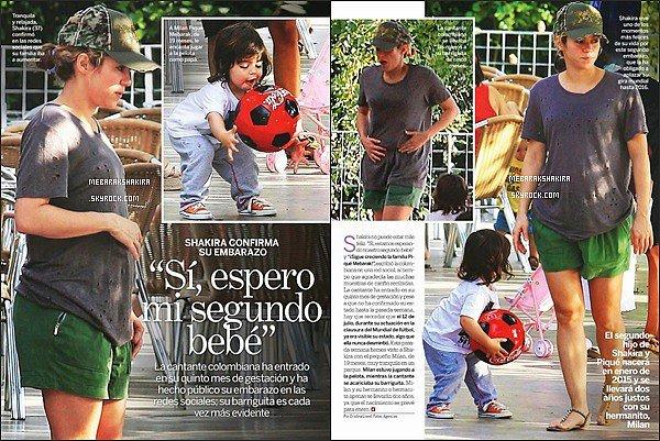 Shakira est dans les revues espagnoles Diez Minutos, Lecturas & Semana