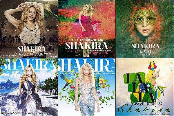 Durant le mois de juillet 2014 Miss Mebarak a lancé le #DareArt sur Twitter, qui consiste à réaliser sa propre pochette du single La la la Brazil 2014. Shakira a retweeté la plupart des pochettes inventé par les fans, laquelle est votre préférée ?