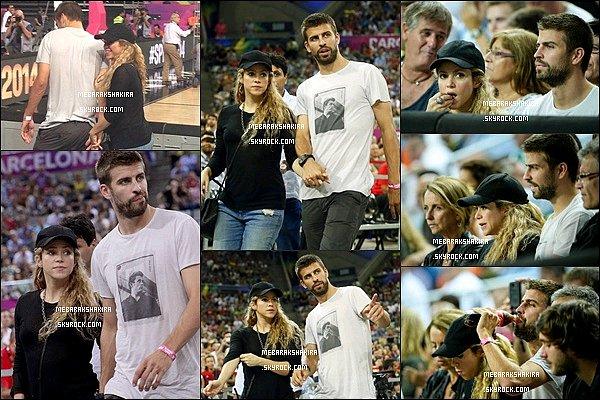 9 septembre 2014 : Shakira & Gerard ont assistés à un match de basket à Barcelone