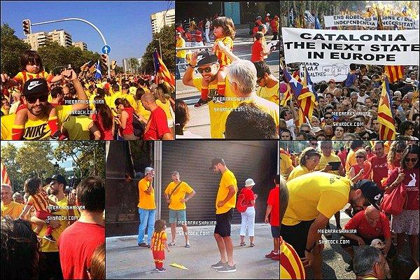 11 septembre 2014 : Gérard & Milan à la Diada (fête national de la Catalogne) dans les rues de Barcelone