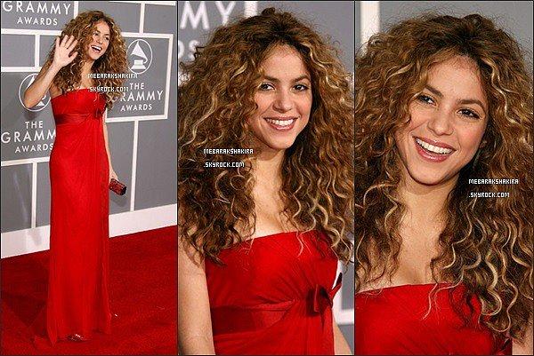 11 février 2007 : Shakira, la belle lionne sur le tapis rouge des Grammy Awards
